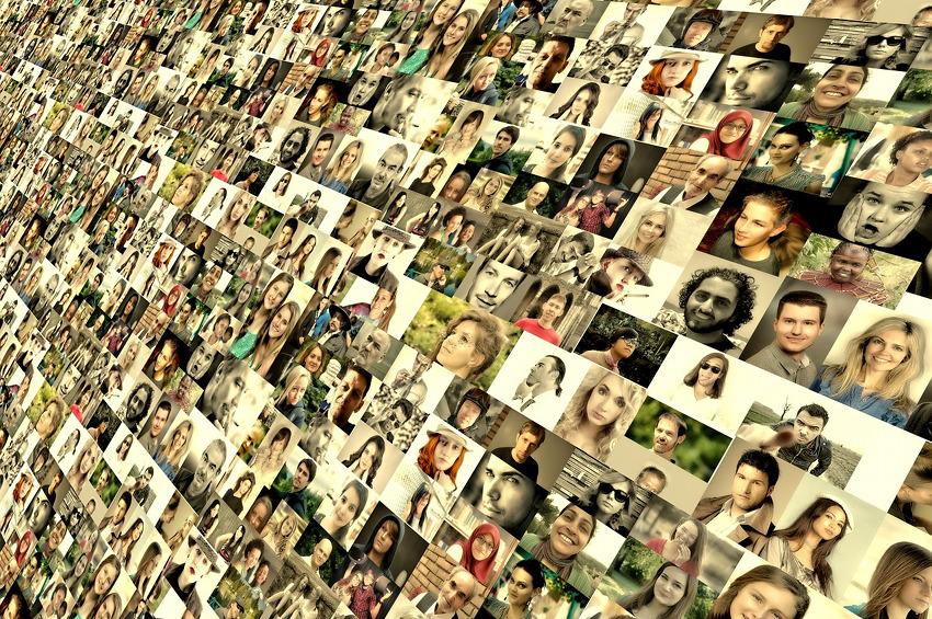 Montage Fotos von Gesichtern