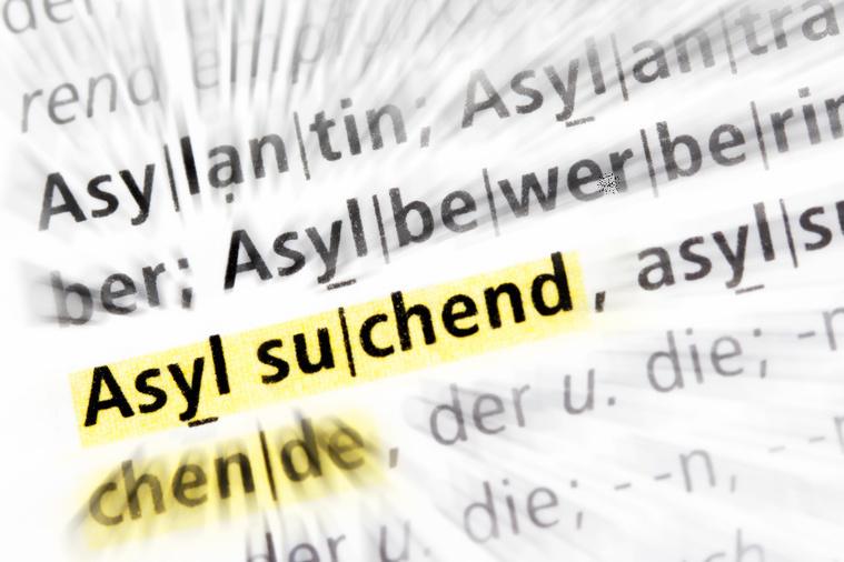 """Der Begriff""""Asylsuchend"""" markiert"""